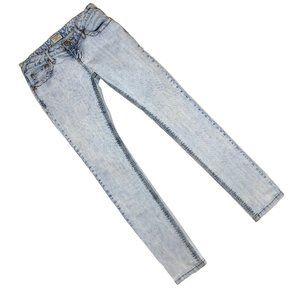 Free People Light Denim Acid Wash Skinny Jeans